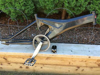 Old school bmx Specialized Fat Boy Monocoque frame, cranks, pedals and stem