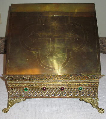 Antique Brass Catholic  Missal , Lectern, Bible Stand