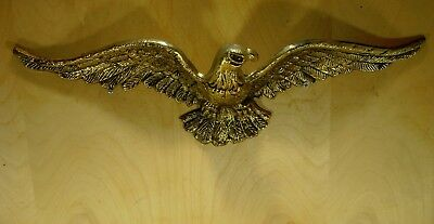 """19"""" Cast / Brass Eagle wall Hanging, Home Decor, Excellent Condition, Used, Nice"""