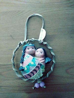FRIENDS of the FEATHER~Mommy & Baby Dream catcher~Ornament~NEW w/o Box