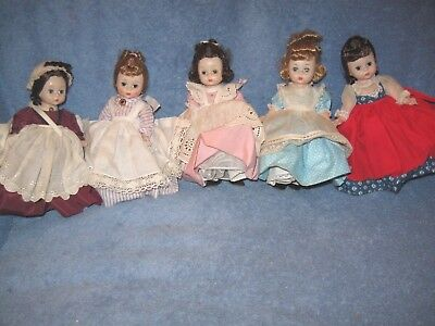 Vintage Lot Madame Alexander Kins Alex Bent Knee Little Women Tagged Lqqk!!