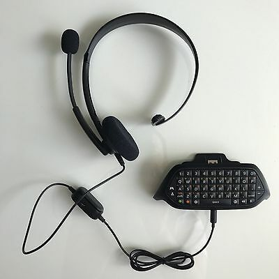 Microsoft Xbox One Chatpad & Wired Chat Headset
