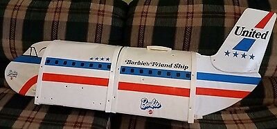 Vintage BARBIE'S FRIEND SHIP Airplane United Airlines 1970 MATTEL TOY