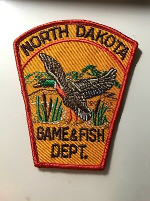 Old North Dakota ND Game & Fish Dept.  Warden Police Patch