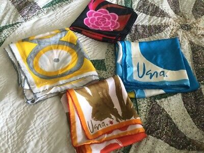 Lot of Vintage Vera Neumann Silk Scarves