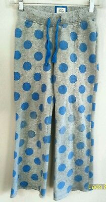Mini Boden~ Girls 9y Blue & Gray Marl Polka Dot Sweats in Good Condition!!