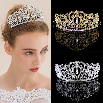 Crystal Crowns Bride Tiara Bridal Accessories Handmade Wedding Headdress