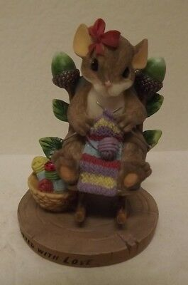 Charming Tails Knitted With Love A Blessing For Our Home Collection Collectible