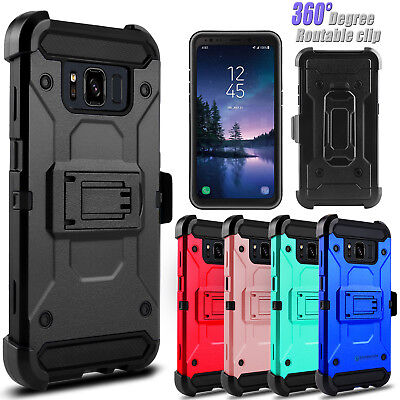 For Samsung Galaxy S8 Active Shockproof Kickstand Holster Clip Phone Case Cover
