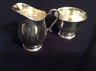 Vintage Towle Sterling Sugar And Creamer In Silver Flutes Set Mark 150