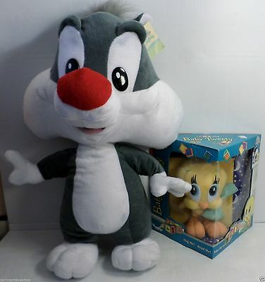 New Large plush Looney Tunes SYLVESTER 24 inches & Baby TWEETY in box