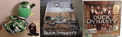 NWT plush stuffed green camouflage Duck Dynasty sealed game unused blanket bonus