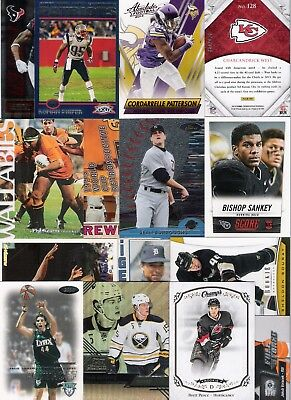 40 Card Lot Sports Cards Inserts Rookies Parallel Nfl Mlb Nhl Bball Rugby