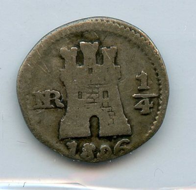 WeedaMexico 1806 1/4 real, KM #62, .903 silver, see scans