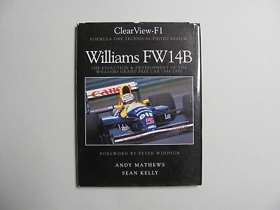 Williams FW14 Clear View Book by Andy Mathews - Signed