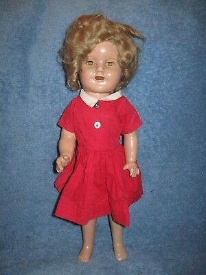 Vintage Ideal Shirley Temple Doll Composition Tlc 16In Lqqk!!!