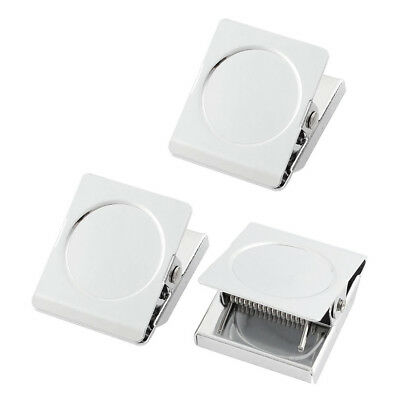 Refrigerator Spring Loaded Magnetic Wall C Memo Note Holder 3pcs O9K3