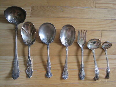 Vtg Silverplated Serving Utensils Mixed Lot 7 Pc Ladles Casserole Spoons