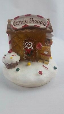 Yankee Candle Christmas JAR TOPPER Sweet Candy Shoppe Gingerbread Man House