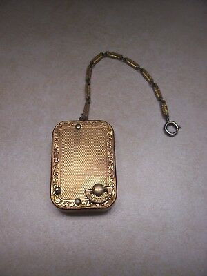 Vintage Rare Swiss Reuge Ste. Croix Music Box Key Chain- Plays Well!!