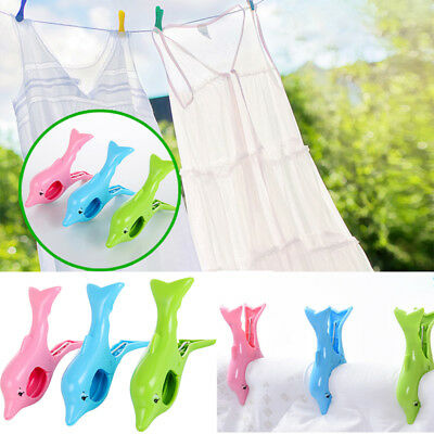 Dolphin Shape Beach Clothes Towel Wind Large Clip Pegs Travel Accessories