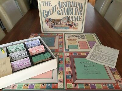 Vintage The Great Australian Gambling Game Perferct Condition 1987