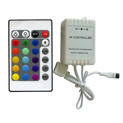 RGB LED Ambient Color Changing Illuminate Mood Lighting Light Remote Controller