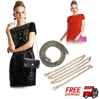 Metal Shoulder Bag Chain Strap 120cm Crossbody Bag Replacement Strap for Lady OK