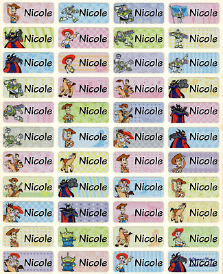 Toy Story Woody Buzz Lightyear Personalized Name Stickers Labels 100 waterproof