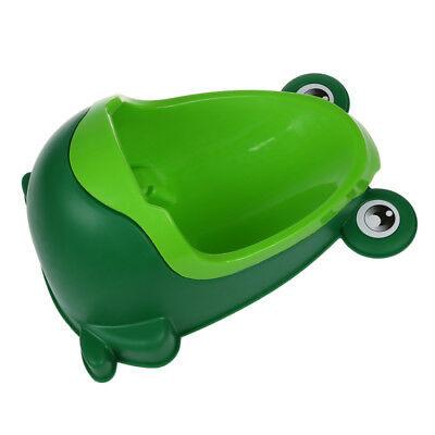 Baby Boys Kids Toddler Potty Training Pee Trainer Mini Toilet (Frog Green) D7I7