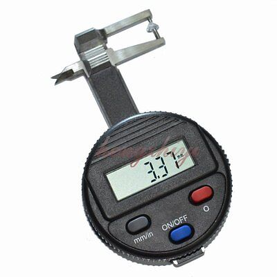 0-25mm Electronic Pocket Jewel Gem Thickness Gauge w 0.01mm Reading Beads Tools