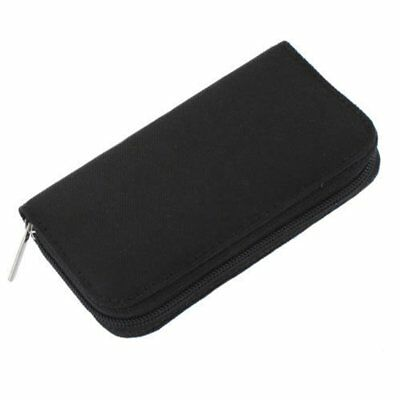 22 pcs SD CF Micro SD Memory Card Storage Carrying Pouch Holder Black X2M1