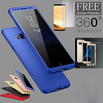 360° Shockproof Full Body Cover W/Screen Protector Hard Case For Samsung Phones