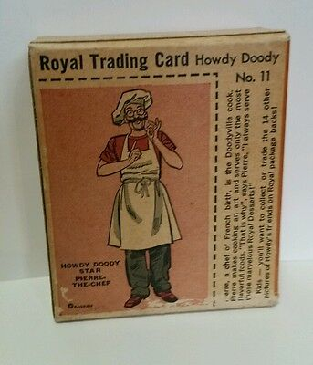 1950's Royal Pudding  Hoody Doody Desert  Card #11 Pierre The Chef Unopened Box