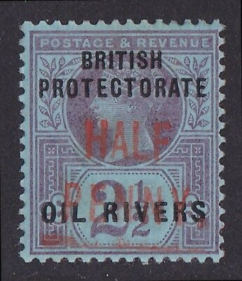 NIGER COAST : 1893 Old Calabar provisional HALF PENNY QV 2½d ONLY 60 PRINTED!