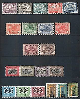 PORTUGAL - Mixed lot of 21 Stamps, Sets or Part Sets, most Fine Used - Mint, LH