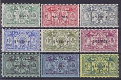 NEW HEBRIDES 1911 Weapons & Idols set ½d to 5/- SPECIMEN MNH **