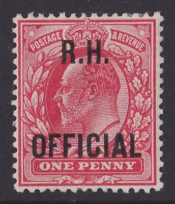 Great Britain : 1902 R.H. OFFICIAL KEVII 1d. Genuine.