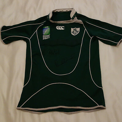 Brian O'Driscoll & Paul O'Connell Hand Signed Ireland Rugby Shirt with COA