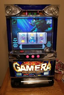 Rare Pachislo Gamera Video Slot Machine Includes Tokens