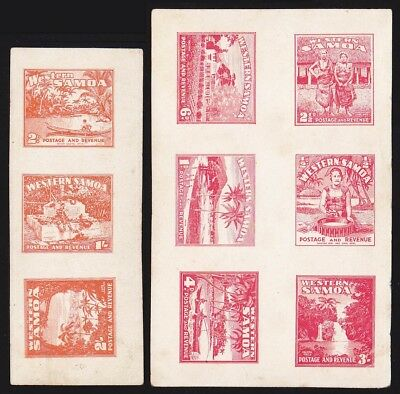 SAMOA 1935 Pictorial set Imperf ESSAYS blocks EXTREMELY RARE!