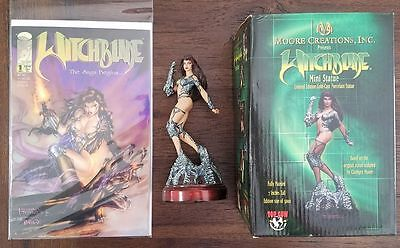 Limited #'d Top Cow Witchblade Mini Statue with NM Witchblade #1