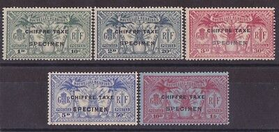 NEW HEBRIDES - FRENCH 1925 Postage Due Weapons & Idols set 10c -1Fr SPECIMEN