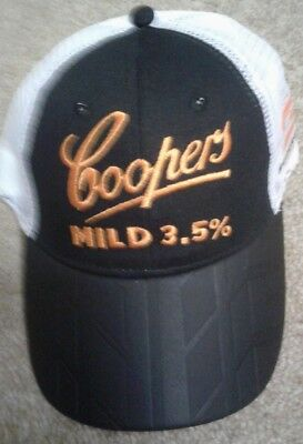 cooper mid 3.5 v8 supercars hat with tyre tread on peak