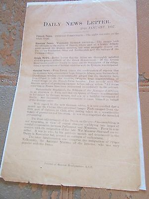 SCARCE WW1 British 1917 Egyptian Exp. Force News Letter