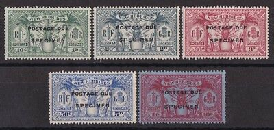 NEW HEBRIDES 1925 POSTAGE DUE Weapons & Idols set 1d - 10d SG cat £180
