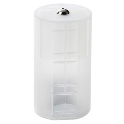8 x AA to D Size Battery Adapter White Case E6Q3