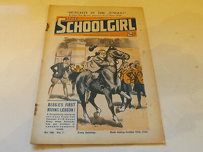 THE SCHOOLGIRL WRITTEN WEEKLY,NO 168,1932 ISSUE,GOOD FOR AGE,85 yrs old,V RARE.