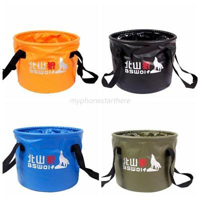 10L/20L Portable Outdoor Travel Foldable Camping Washbasin Basin Bucket Waterpot