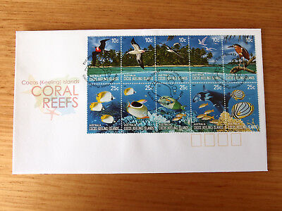 Cocos (Keeling) Islands 2006- CORAL REEFS   First Day Cover  -blue